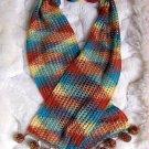 Ethnic peruvian scarf , shawl made of Rabbit wool