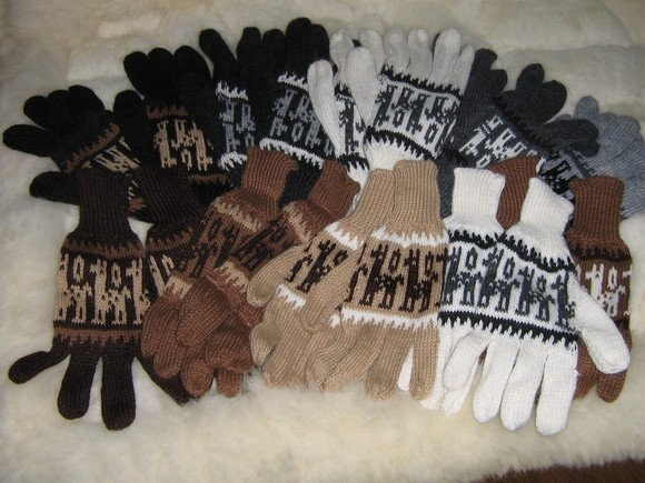 Lot of 50 pairs Alpaca wool gloves,mittens wholesale