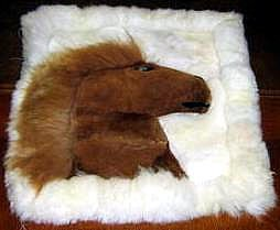 Alpacafur Rug for decoration, 15.7 x 13.7 Inches