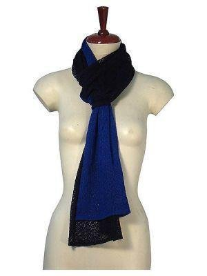 Bicolor crocheted scarf,shawl made of Babyalpaca wool