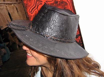 Goucho leather stetson, western hat of south America