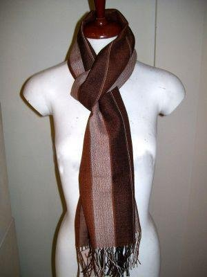 Silk scarf,shawl made of Babyalpaca wool and Silk