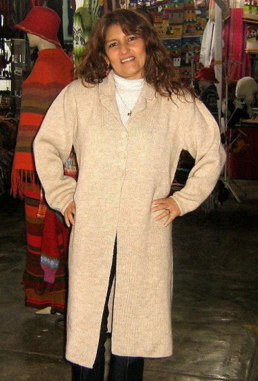 Woolen Long coat, knoitted of Alpacawool,outerwear