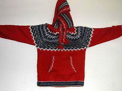 Peruvian hooded sweater for Kids hooded made of Alpaca wool