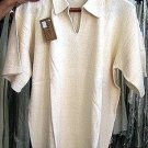 White shirt with V-neck made of ecological pima Cotton