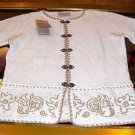 Embroidered longsleeve blouse knitted of Alpaca wool