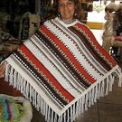 Poncho made of pure Alpaca wool hand-embroidery, outerwear