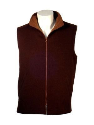 Sleeveless vest knitted of Alpaca wool,outerwear
