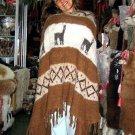 Peruvian poncho,natural Alpaca Wool,Coat