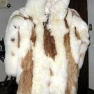 Hooded alpaca fur Overall, pelt outerwear