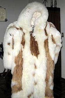 Hooded alpaca fur Overall, pelt outerwear