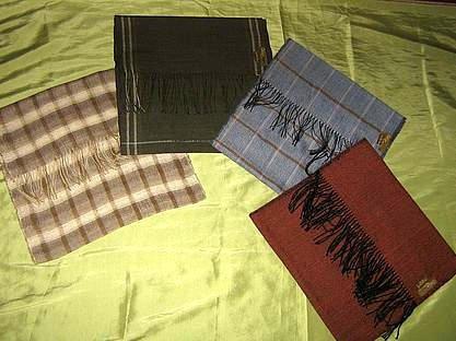 Set of 4 Babyalpaca wool / Silk scarfs, shawls