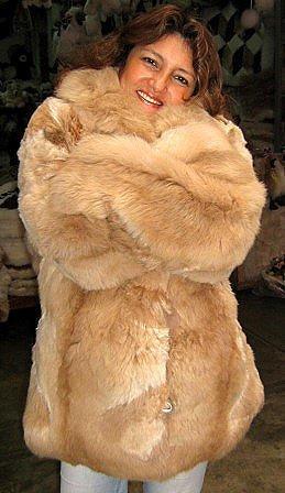 Brown fur jacket, coat made of Babyalpaca,outerwear
