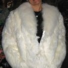 White surialpaca fur jacket, unique outewear