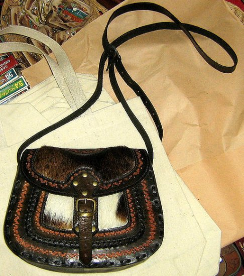 Handmade pure leather Handbag,ethnical look