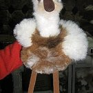 Fur soft toy bird,figure made of alpaca fur