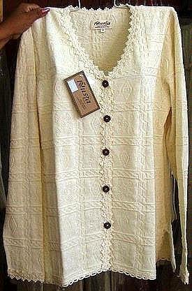 white longsleeve blouse, pure ecological pima cotton