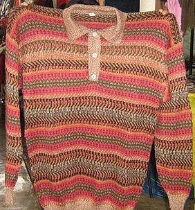 Sweater for men made of Alpacawool, V-neck