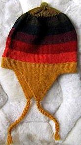 Rainbow Chullo, Woolly Hat with ear flaps,alpacawool