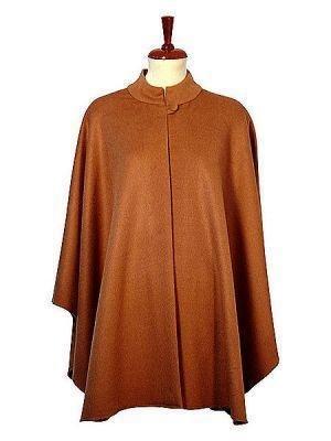 Brown Poncho Cape,made of Babyalpaca wool
