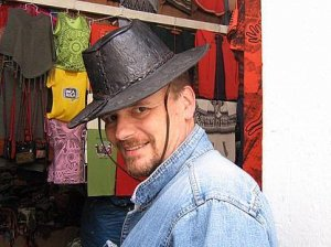 Goucho leather stetson, hat from South-America
