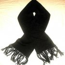 Black scarf, made of Alpacawool, 51.2 x 8.2 Inches