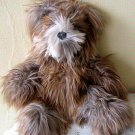 Teddy bear made of Suri Alpaca fur, soft toy, 15 inch.
