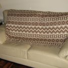 Brown blanket made of alpacawool, bedspread, coverlet