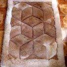 Alpaca fur rug, carpet, rhombus design,39.3 x 23.4 Inch