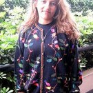 Embroidered cardigan,jacket made of pure Alpacawool