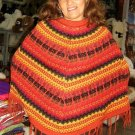 Peruvian ethnic Poncho made of alpaca wool,outerwear