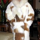 Babyalpaca fur Long coat,pelt outerwear coat