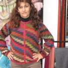 Colorful Cardigan, jacket, Sweater, Alpacawool
