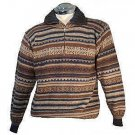 V-neck Sweater with ziper, knitted with Alpaca wool