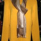 Yellow Cardigan with a sweater and scarf,made of Alpacawool