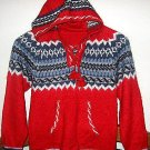 Hooded Sweater,red, Alpaca wool, all sizes, jumper