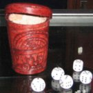 Lot of 10 dice cups, made of pure leather, wholesale
