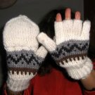 Woolen gloves,mittens made of Alpacawool