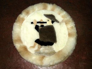Alpaca fur for decoration,40 cm (15.6)diameter