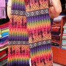 Multicolour ethnic peruvian scarf, pure Alpacawool