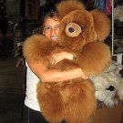 Fur Teddy bear made of brown Alpaca pelt, 31.5 Inches