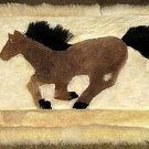 Alpaca fur decor rug, 30.7 x 23.6 Inches