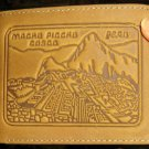 Leather Wallet,Purse, carved designed with Machu Picchu!