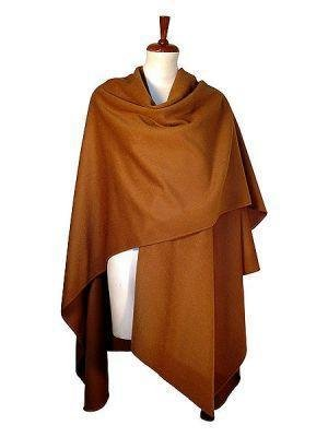 Brown cape,wrap made of Babyalpaca wool fabric