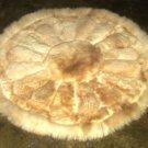 Round alpaca fur carpet from Peru, Rose Design, 100 cm