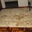 Alpaca fur carpet from Peru with a cube design, 220 x 200 cm