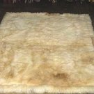 Soft baby alpaca fur carpet, natural white 80 x 60 cm