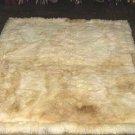 Soft baby alpaca fur carpet, natural white 90 x 60 cm