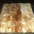 Soft Babyalpaca fur carpet, natural beiges with brown spots, 200 x 180 cm
