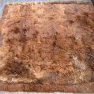 Soft dark brown Babyalpaca fur rug, 90 x 60 cm